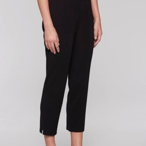 Misook Pants - Misook black split hem crop pant Small